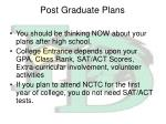 post graduate plans