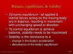 balance equilibrium stability1
