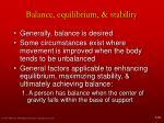 balance equilibrium stability3
