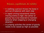 balance equilibrium stability8