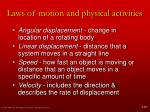 laws of motion and physical activities5