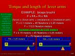 torque and length of lever arms10