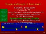torque and length of lever arms11