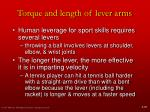 torque and length of lever arms14