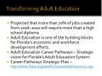 transforming adult education
