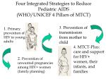four integrated strategies to reduce pediatric aids who unicef 4 pillars of mtct