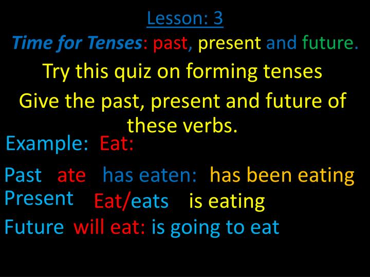lesson 3 time for tenses past present and future n.