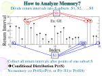how to analyze memory divide return intervals into 8 subsets s1 s2 s8