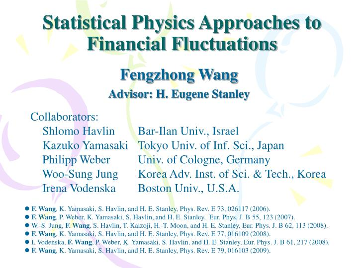 statistical physics approaches to financial fluctuations n.