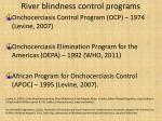 river blindness control programs