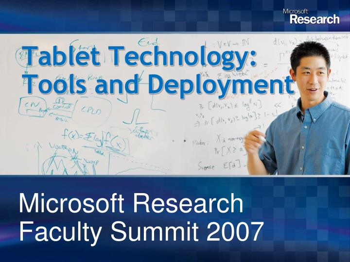 tablet technology tools and deployment n.