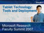 tablet technology tools and deployment