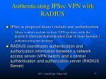authenticating ipsec vpn with radius