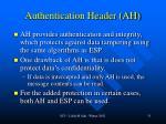 authentication header ah