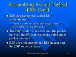 encapsulating security payload esp contd
