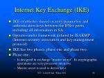 internet key exchange ike