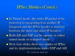ipsec modes contd