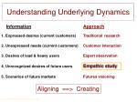 understanding underlying dynamics