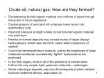 crude oil natural gas how are they formed