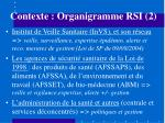 contexte organigramme rsi 2