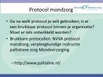 protocol mondzorg