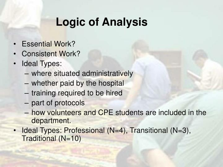 Logic of Analysis