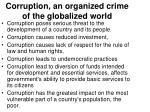 corruption an organized crime of the globalized world