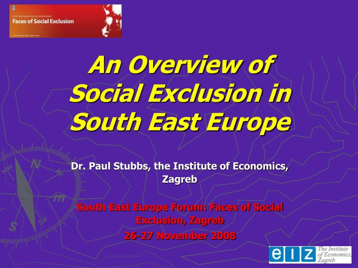 an overview of social exclusion in south east europe n.