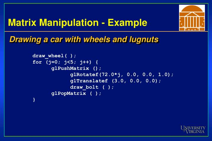 Matrix Manipulation - Example