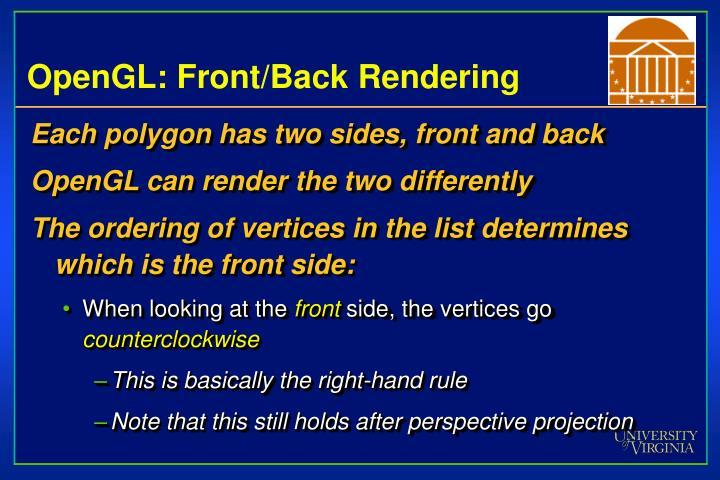 OpenGL: Front/Back Rendering