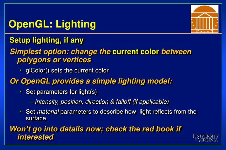 OpenGL: Lighting