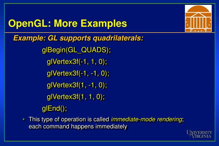 OpenGL: More Examples
