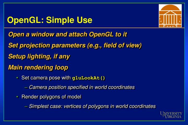 OpenGL: Simple Use