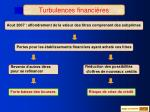 turbulences financi res