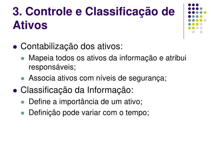 3. Controle e Classificação de Ativos