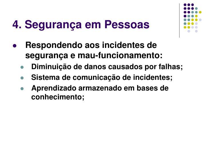 4. Segurança em Pessoas
