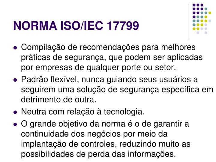 NORMA ISO/IEC 17799