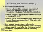 issues in future pension reforms 1