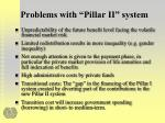 problems with pillar ii system