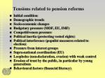 tensions related to pension reforms