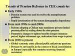 trends of pension reforms in cee countries