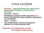 cykle leczenia
