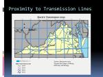 proximity to transmission lines