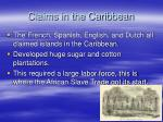 claims in the caribbean