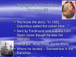 voyages of columbus voyage 1