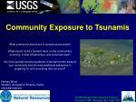 community exposure to tsunamis