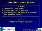 september 7 2008 at 8 00 am