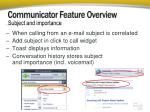 communicator feature overview2