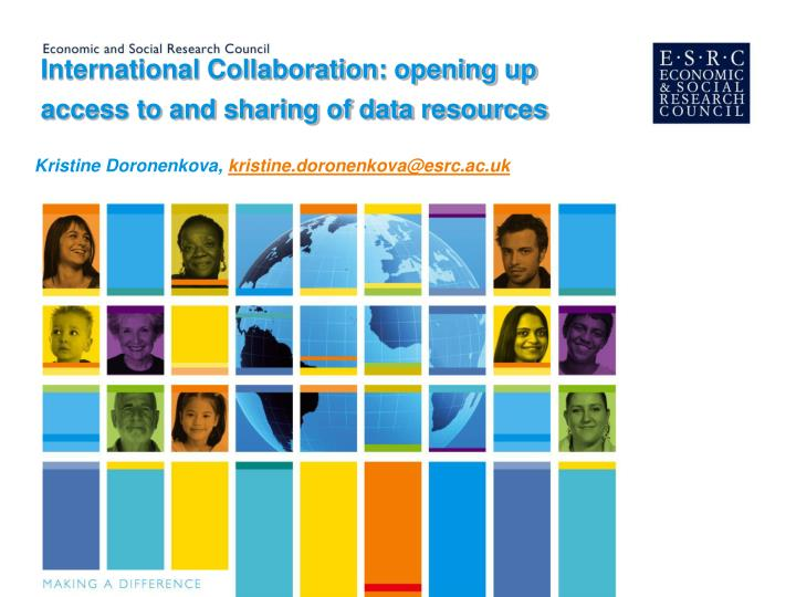 international collaboration opening up access to and sharing of data resources n.