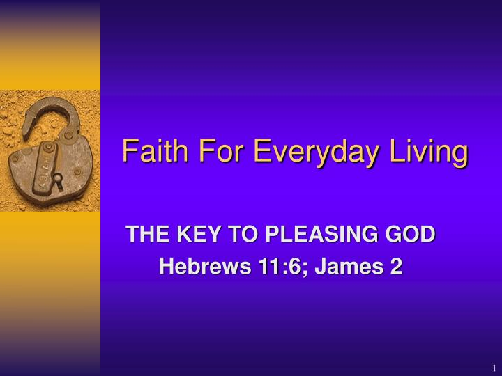 faith for everyday living n.